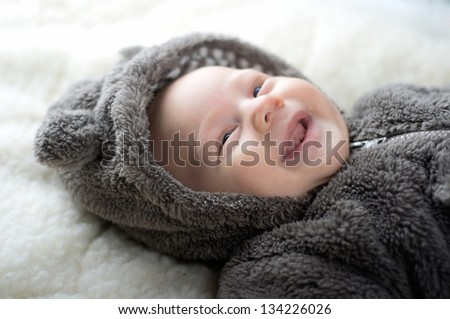 Cute smiling baby boy - stock photo