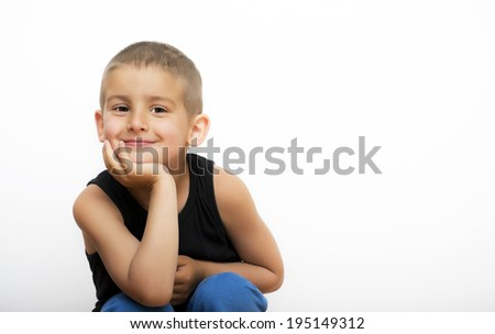 Cute smiling little boy - stock photo