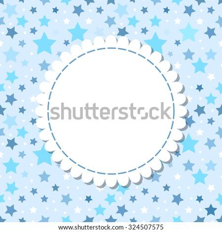 Cute Stars Frame Baby Sweet Shower Stock Illustration 324507575 ...