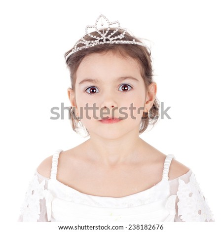 cute sweet little child dressed as a princess - stock photo