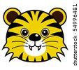 Cute Tiger Raster - stock photo
