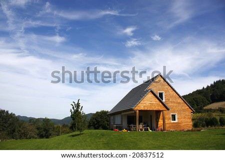 cute wooden house in the French countryside