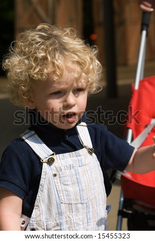 cute young boy in summer - stock photo