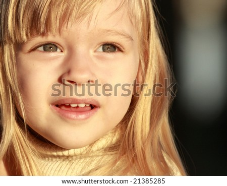 Cute young child