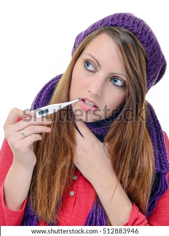 Taking Her Temperature Stock Images Royalty Free Images