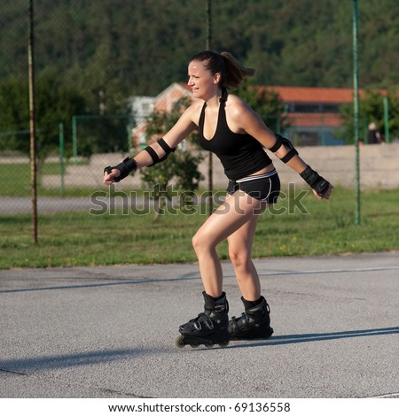 In-line Skating Stock Images Royalty-Free Images U0026 Vectors | Shutterstock