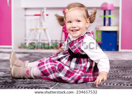 Cute young girl smiling - stock photo