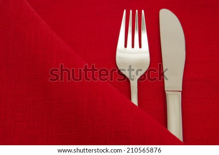 Cutlery in the envelope of tissue