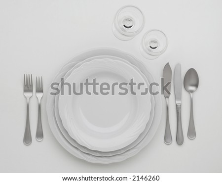 cutlery set on a white table