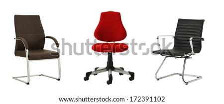 cutout chair composition  - stock photo