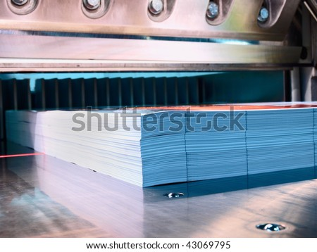 cutter in a printing company - stock photo