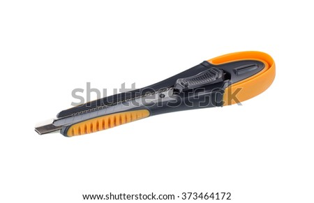 cutter knife isolated on a white background.