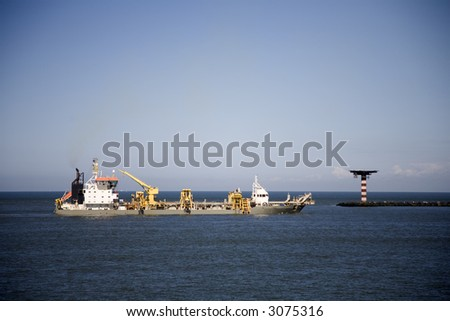 Cutter suction dredger 2 - stock photo