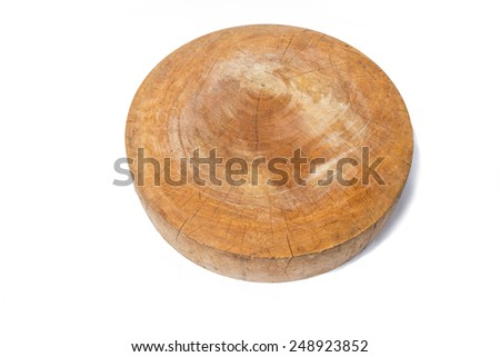 cutting board, chopping block on a white background.