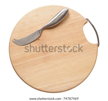Cutting board. Isolated - stock photo