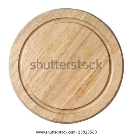 Cutting board isolated on the white background - stock photo