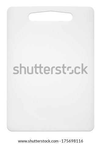Cutting board on a white background