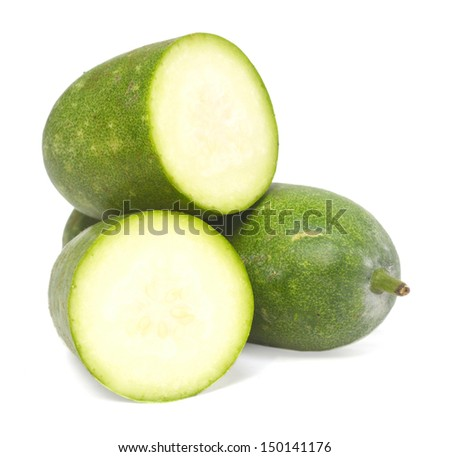 Cutting with winter melon vegetable  - stock photo