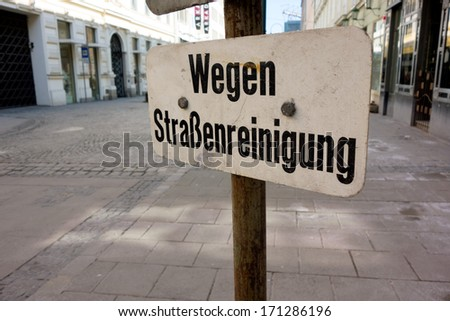 cwegen a street cleaning, parking is prohibited on a road