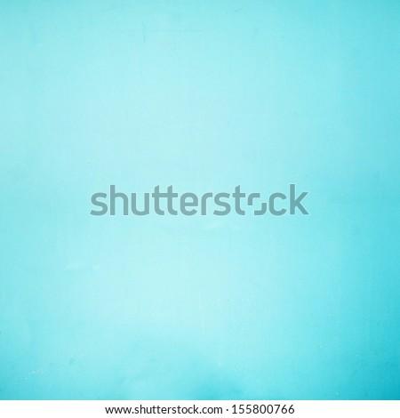 Cyan wall background - stock photo