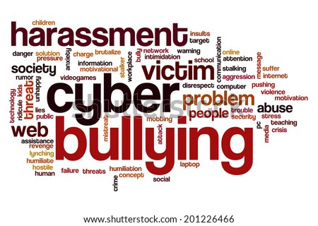Cyber bullying concept word cloud background - stock photo