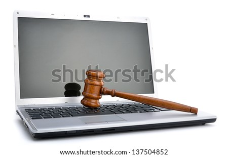 Cyber Law - stock photo