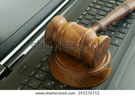 Cyber law or crime concept - stock photo