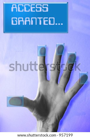 Cyber security(Access Granted message) - stock photo