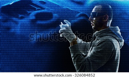 Cyber security, admin protect company network - stock photo