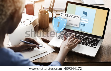 Cyber Security Firewall Privacy Concept - stock photo