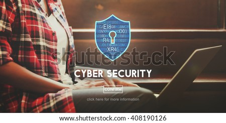 Cyber Security Online Protection Safe Concept - stock photo