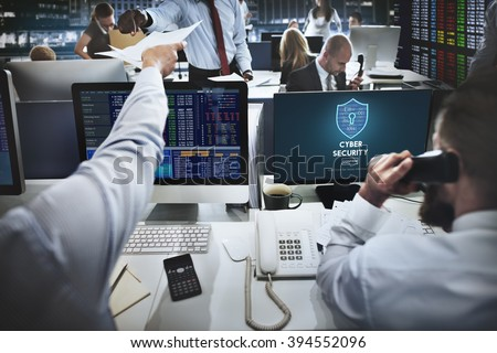 Cyber Security Protection Firewall Interface Concept - stock photo
