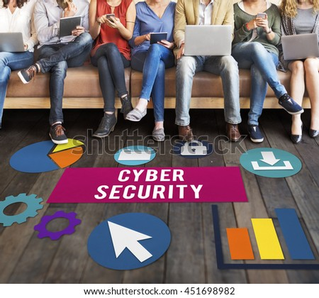 Cyber Security Protection Lock Privacy Concept - stock photo