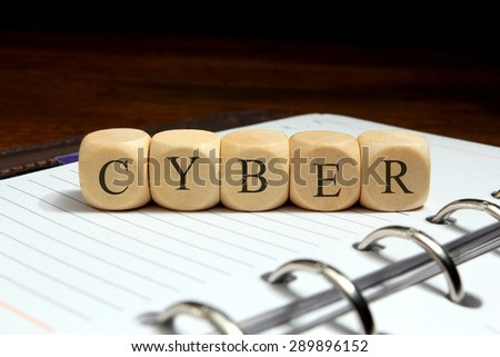 CYBER word concept - stock photo
