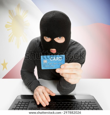 Cybercrime concept with flag - Philippines