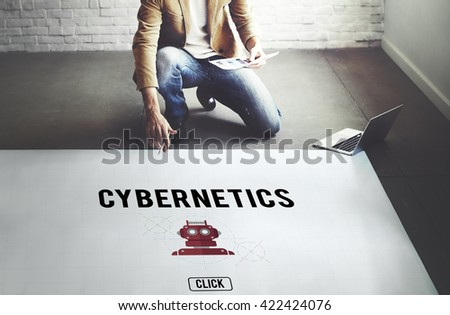 Cybernetic Factory Industry Intelligence Machinery Concept - stock photo