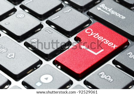 Cybersex button on computer keyboard
