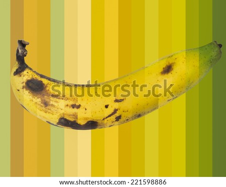 Cycle Green to Black colour of Banana fruit slice - stock photo