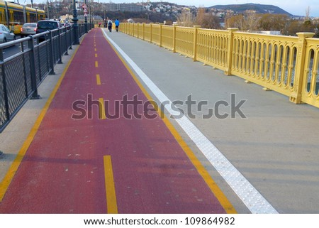 cycle track - stock photo
