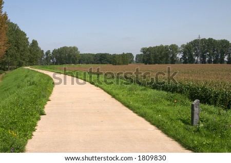 Cycle-track - stock photo
