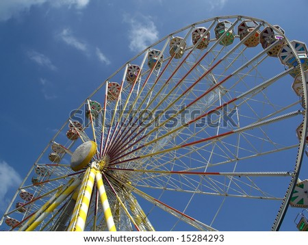 Cycling ferris wheel on a fairground