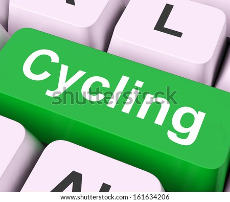Cycling Key On Keyboard Meaning Bicycling Or Motorcycling