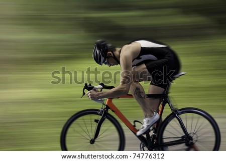 cycling race - stock photo