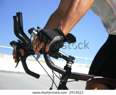 Cyclisit on velodrome - stock photo
