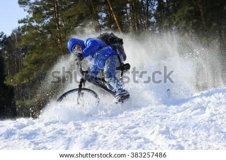 mountainbike snow winter extreme - photo #11
