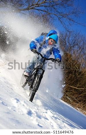 mountainbike snow winter extreme - photo #25