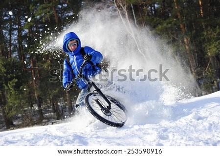 mountainbike snow winter extreme - photo #16
