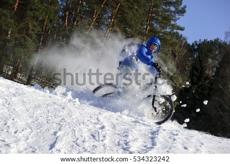 mountainbike snow winter extreme-#18