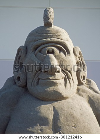 Cyclops Made out of Sand - stock photo