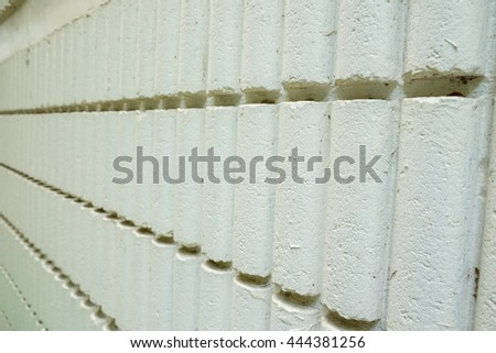 cylinder concrete block wall and texture - stock photo